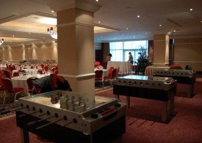 Csocsó asztalok bérlése céges karácsonyi rendezvényre - Corinthia Hotel - Budapest