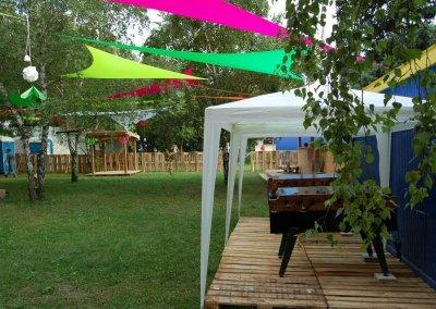 Csocsó asztalok fesztiválra vip vendégeknek - Sziget 2006 - Pesti - Est VIP -Budapest