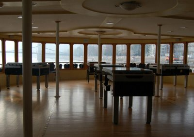 Csocsó asztalok Sony dealer találkozón - Európa rendezvényhajó - Budapest