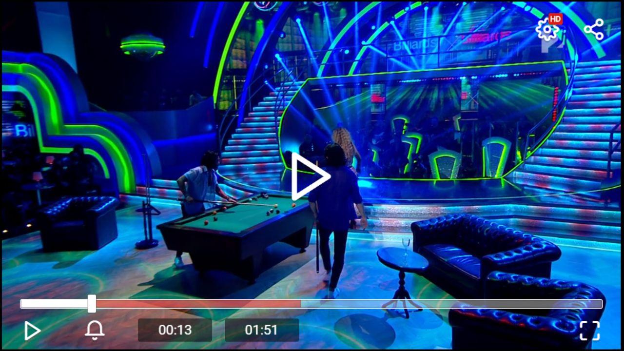 Biliárd asztal diszlet Gabriela Spanic és Andrei Mangra salsa produkciójában